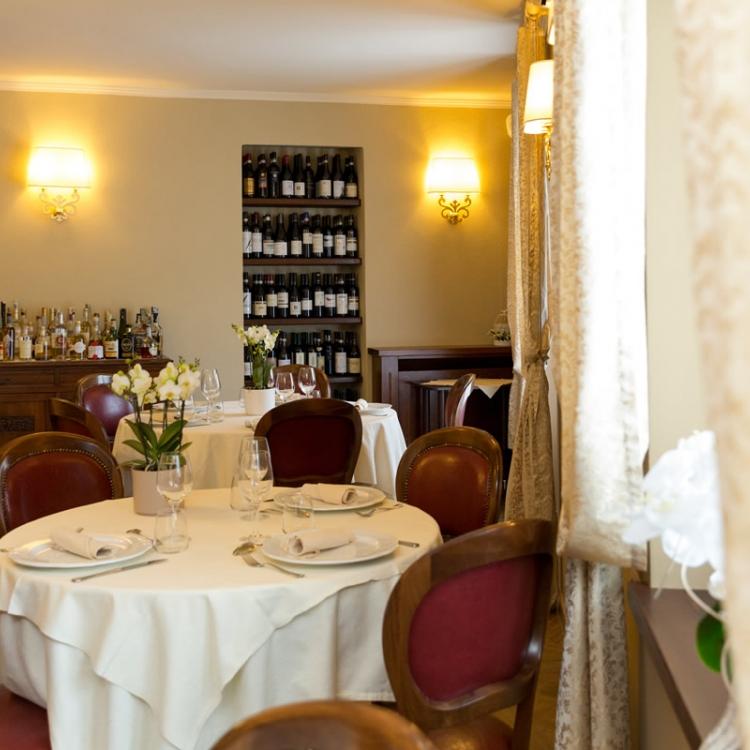 """Das Restaurant """"Stazione""""."""